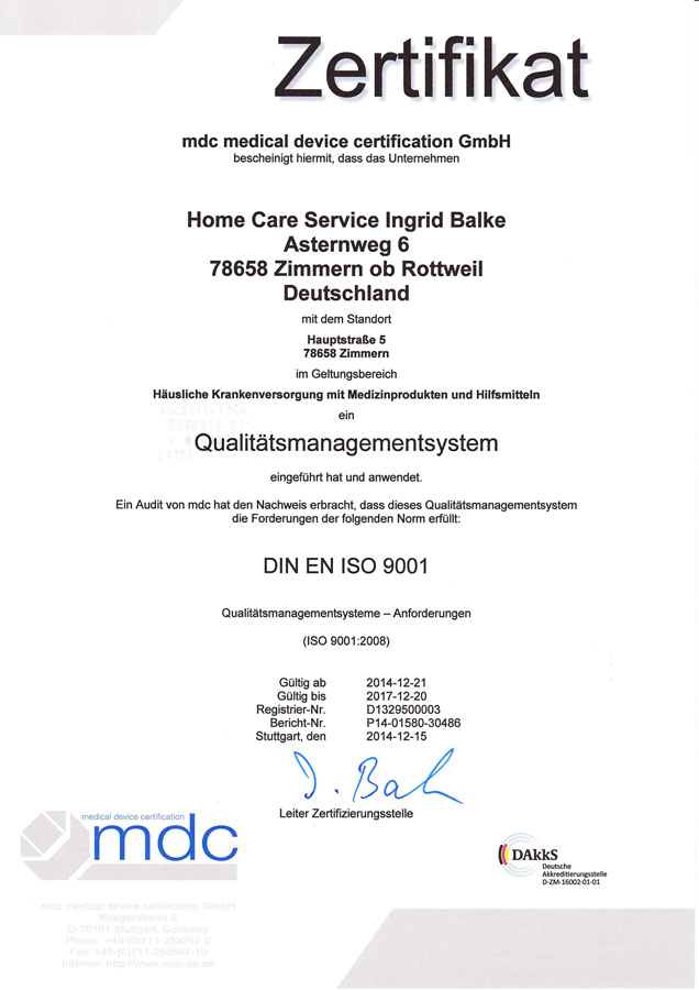Home Care Service Balke — Eine weitere WordPress-Website